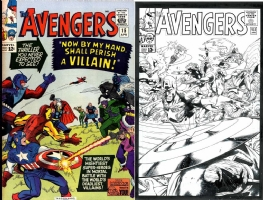 Avengers #15 - Geraldo Borges & Jeff Huet - One Minute Later Comic Art